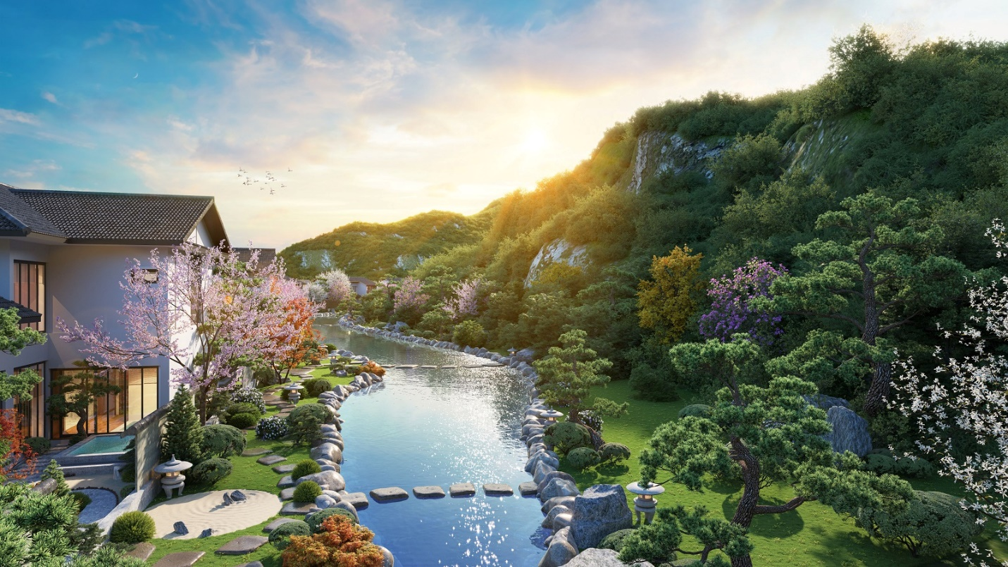 A picture containing nature, shore, plant, resort  Description automatically generated