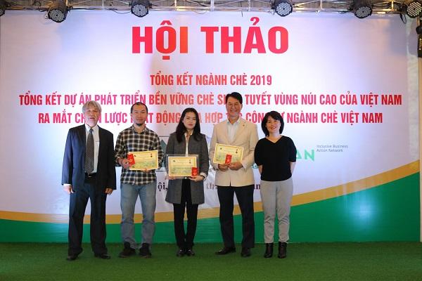 Các đơn vị, cá nhân vinh dự được nhận kỷ niệm chương của Hiệp hội Chè Việt Nam