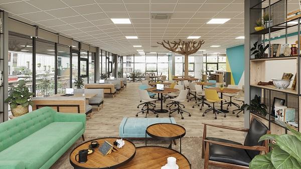 Toàn cảnh nơi khởi nghiệp của Startup tại Techgarden Coworking Space.