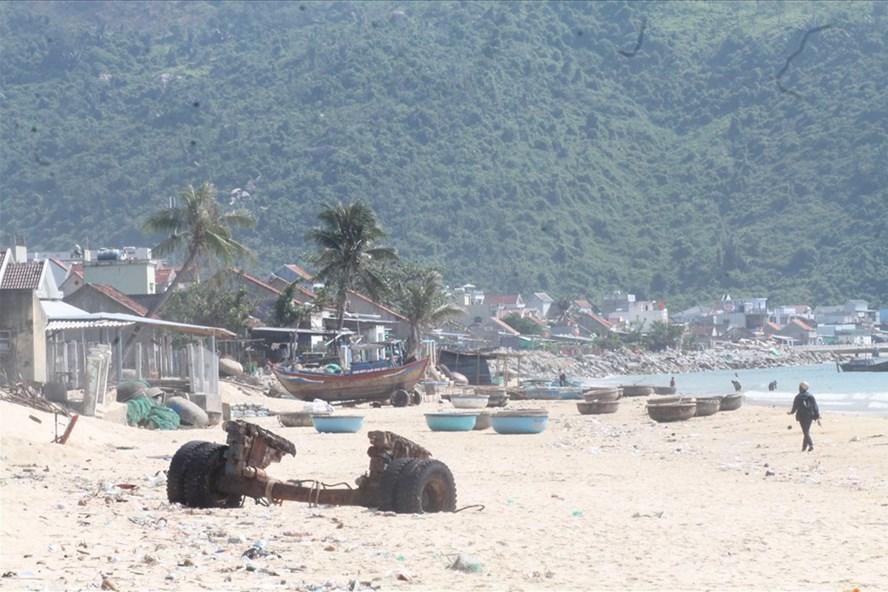 Bãi biển Đại Lãnh, nơi triển khai dự án Vavisal Đại Lãnh (huyện Vạn Ninh, Khánh Hòa). Ảnh: P.V