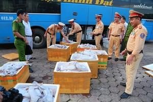 CSGT Hà Tĩnh bắt 1 tấn thịt mèo không rõ nguồn gốc