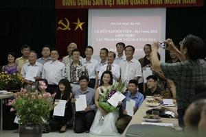 Hội Âm nhạc Hà Nội kết nạp 17 hội viên mới đợt 1 năm 2018