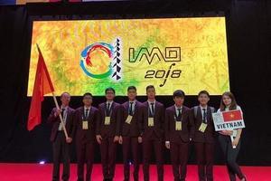 Việt Nam giành 6 huy chương tại Olympic Toán học quốc tế năm 2018