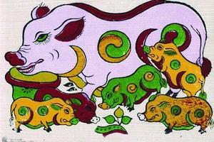"""Giải mã ý nghĩa bức tranh """"Đàn lợn âm dương"""""""