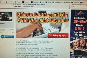 Cảnh giác bẫy việc làm ảo trên mạng xã hội