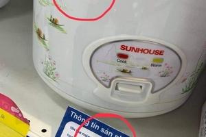 Nồi cơm điện Sunhouse xuất xứ Trung Quốc có logo Hàng Việt Nam chất lượng cao, công ty Shark Phú nói do hiểu nhầm?