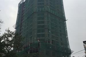 Dự án HDI Tower: Vật liệu rơi thủng mái, lao thẳng vào giường nhà dân