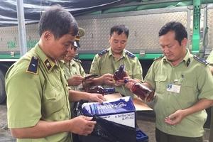Hà Tĩnh: Bắt giữ 400 chai rượu ngoại nhập lậu
