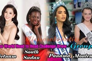 Lí lịch 'đáng gờm' 5 đối thủ của Tiểu Vy tại thử thách đối đầu Hoa hậu Thế giới 2018