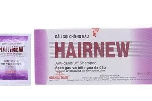 Đình chỉ, thu hồi dầu gội đầu chống gàu Hairnew do có chứa chất cấm làm tăng nhịp tim