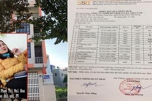 Hải Phòng: Công ty SSH Việt Nam ban hành phiếu phân tích mẫu nước sai thẩm quyền?