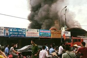 Xác định một loạt sai phạm trong vụ cháy chợ Sóc Sơn