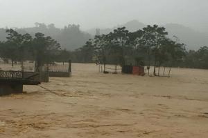 Hà Tĩnh, Nghệ An ngập lụt cục bộ do mưa lớn