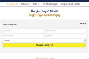 Xuất hiện trang web giả mạo công bố điểm thi THPT quốc gia 2019
