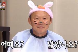 HLV Park Hang Seo hóa chú thỏ dễ thương trên truyền hình Hàn Quốc