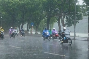 Thời tiết 20/10: Các vùng trên cả nước có mưa rào và dông vài nơi