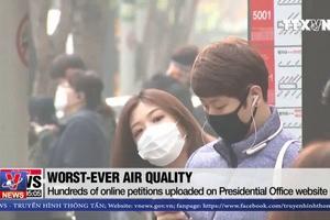 Bụi mịn khiến kinh tế Hàn Quốc thiệt hại nhiều tỷ USD