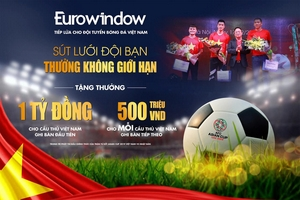 Eurowindow treo thưởng lớn, chưa từng có cho đội tuyển Việt Nam