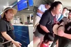 Đình chỉ công tác nữ công an quấy rối sân bay