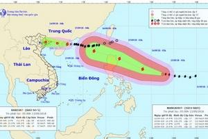 Bão số 5 đang suy yếu; Siêu bão Mangkhut tiến vào khu vực Đông Bắc Biển Đông trong 48 giờ tới