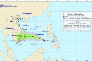Nguy cơ bão đổ bộ vào Phú Yên - Khánh Hòa, các tỉnh Trung bộ đón đợt mưa cực lớn