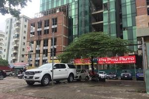 """Hà Nội: Sau nhiều năm Dự án Apex Tower vẫn """"đắp chiếu"""" nhường chỗ cho nhà hàng, bãi trông giữ xe hoạt động"""