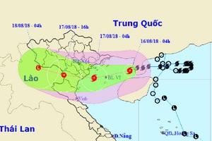 Bão mạnh lên cấp 10, đêm nay tâm bão ảnh hưởng từ Quảng Ninh đến Nghệ An