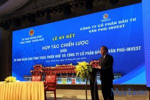 Thừa Thiên - Huế: Trao quyết định đầu tư dự án hơn 3.000 tỷ đồng cho Cty Văn Phú Invest