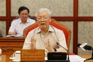 [VIDEO] Tổng bí thư, Chủ tịch nước Nguyễn Phú Trọng chủ trì họp Bộ Chính trị