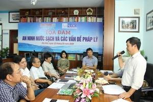 Cần phải ban hành luật Sản xuất, cung cấp, tiêu thụ nước sạch