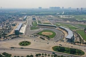 Hoàn thành 5.607km đường đua công thức một Hà Nội