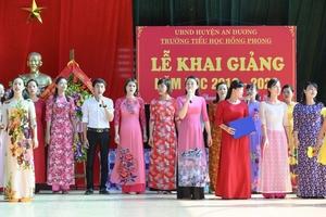 Hải Phòng: Trường Tiểu học Hồng Phong tưng bừng khai giảng năm học mới