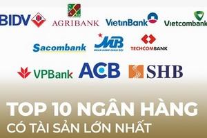 TOP 10 ngân hàng có tổng tài sản lớn nhất 9 tháng đầu năm 2019