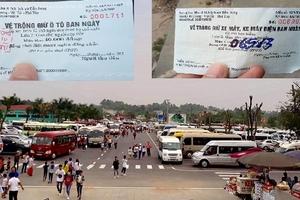 Bãi trông giữ xe của BQL Đền Hùng: Phù phép vé xe!