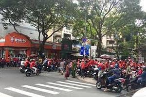 """TP HCM: Tài xế Go-Viet đồng loạt """"đình công"""", tắt ứng dụng"""