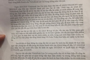 """Vietinbank Lào Cai bị tố """"tiếp tay"""" cho tẩu tán tài sản thi hành án"""
