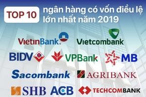 TOP 10 ngân hàng có vốn điều lệ cao nhất năm 2019