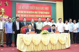 Tập đoàn T&T ký biên bản ghi nhớ đầu tư 5 dự án 46.000 tỷ đồng tạiThái Nguyên