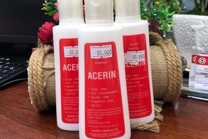 Đình chỉ và cấm lưu hành toàn quốc đối với sản phẩm sữa rửa mặt Acerin do không đạt chuẩn