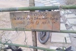 Khu du lịch sinh thái Thác Mơ, Quảng Bình: Đình chỉ mọi hoạt động