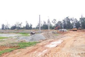 Hà Tĩnh: Doanh nghiệp phân lô, bán nền khi chưa đủ điều kiện cho phép