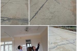 Hà Tĩnh: Một số công trình sử dụng bê tông tươi Hưng Nghiệp vừa làm xong đã có dấu hiệu xuống cấp