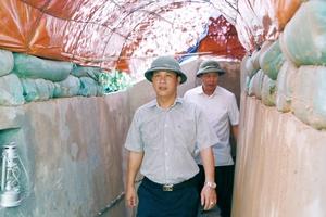 Bí thư Tỉnh ủy và Chủ tịch UBND tỉnh Hà Giang kiểm tra công tác chuẩn bị diễn tập Khu vực phòng thủ tỉnh