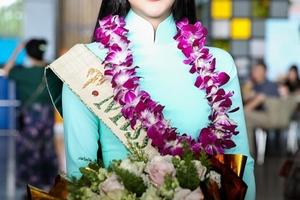 Tân Hoa hậu Trái Đất Phương Khánh rạng rỡ khi về nước