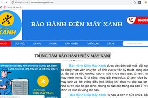 """Giả website của Điện Máy Xanh để """"hành"""" khách hàng"""