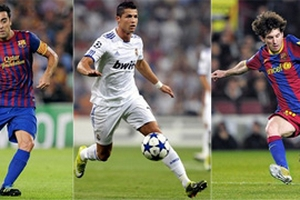 """C. Ronaldo """"đại chiến"""" Messi và Xavi"""