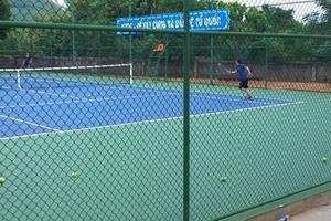 """Sân quần vợt trong trường tiểu học """"không ảnh hưởng đến việc dạy và học""""!"""