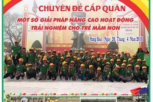 Trường mầm non Hưng Đạo (quận Dương Kinh, Hải Phòng): Nỗ lực vì niềm tin của phụ huynh