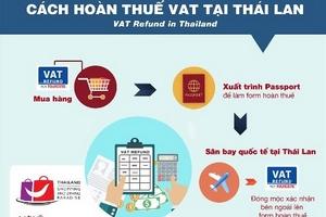 Cách hoàn thuế VATvới các món đồ mua sắm tại Thái Lan