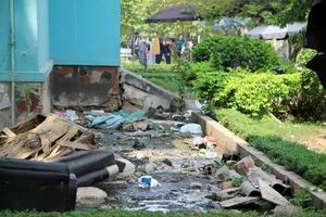 Hà Nội: Hãi hùng với chung cư có bể phốt lộ thiên, thiết bị PCCC hỏng hóc, hết hạn